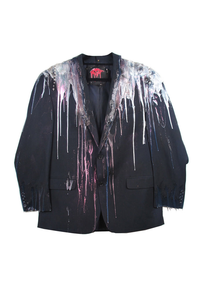 SSIK ONE OF A KIND Silicon Drip Pearl Oversized Blazer - AVAILABLE FOR  IMMEDIATE DELIVERY MENS SIZE L