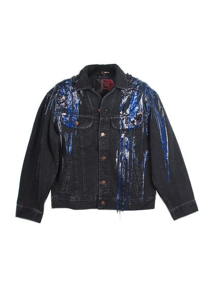 SSIK ONE OF A KIND Silicon Drip Denim Jacket - AVAILABLE FOR  IMMEDIATE DELIVERY MENS SIZE M