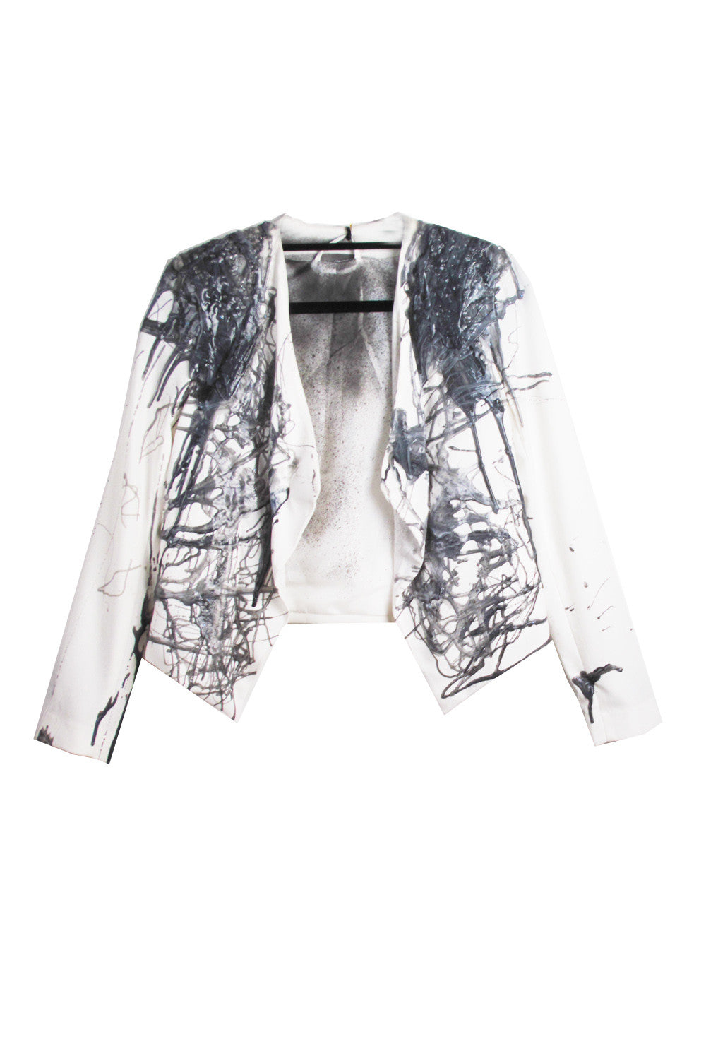 SSIK ONE OF A KIND Silicon Marble Drip Blazer - AVAILABLE FOR  IMMEDIATE DELIVERY SIZE S