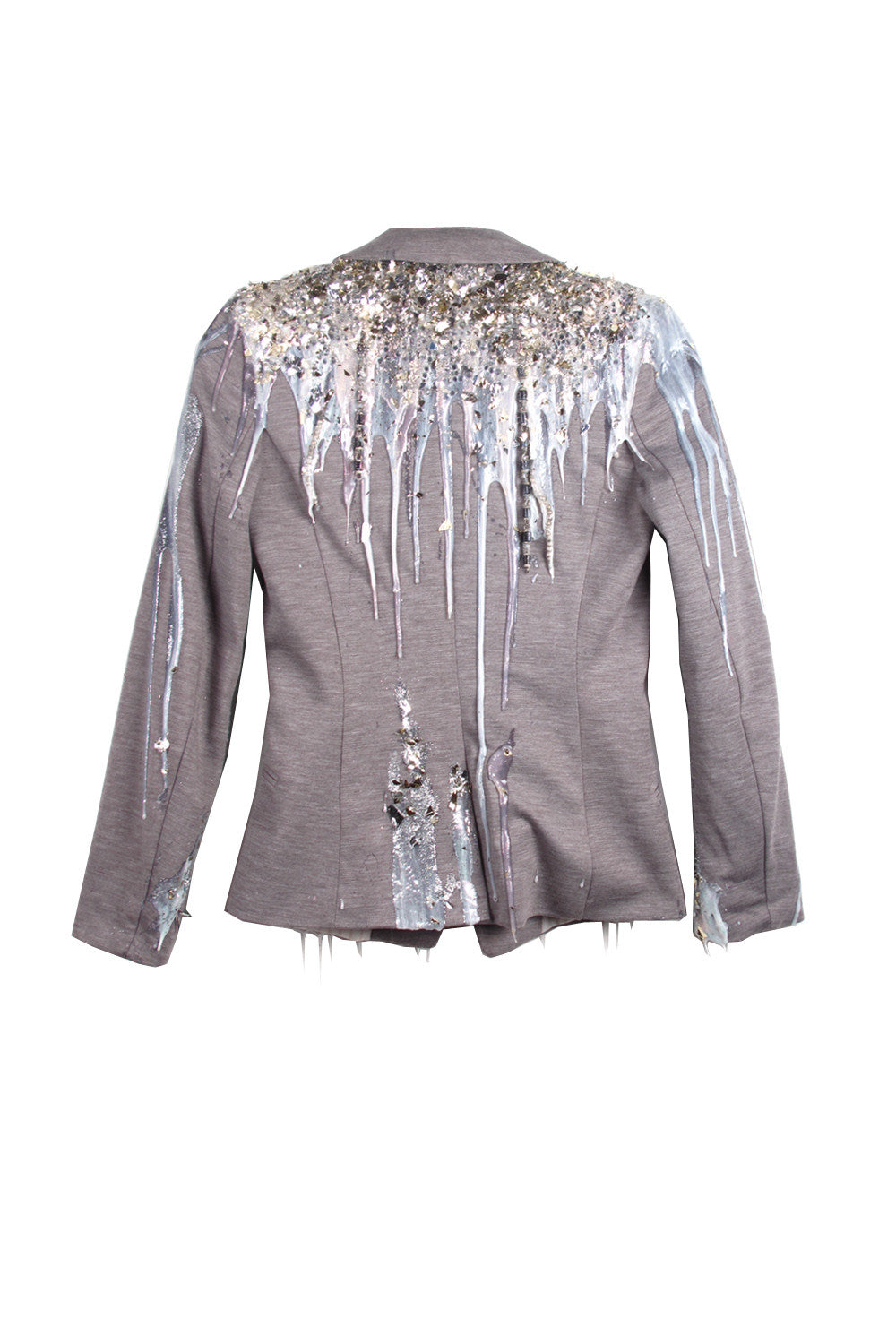 SSIK ONE OF A KIND Silicon Metallic Foil Blazer - AVAILABLE FOR  IMMEDIATE DELIVERY SIZE S