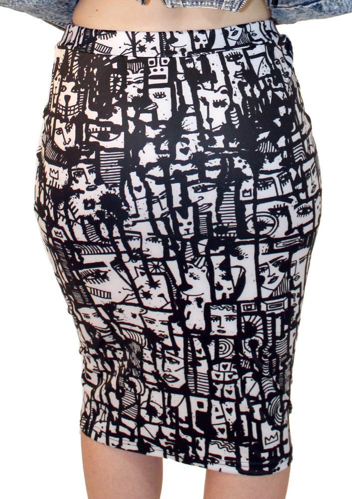 Two faced Pencil Skirt