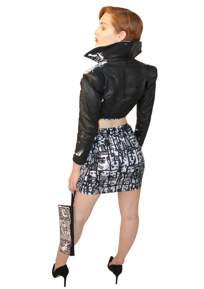 Posh Crop Leather Jacket