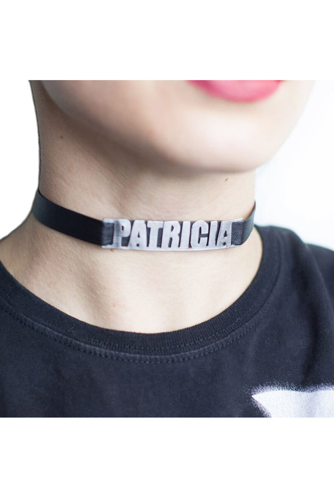 Personalized Name Choker in Leather