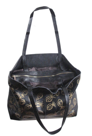 Suzanne Mallouk  'EYE SEE YOU' Genuine Leather Tote- IMMEDIATE DELIVERY