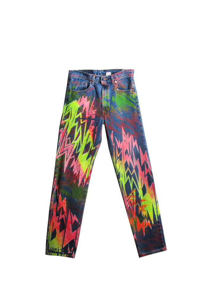 Ben Copperwheat 'Lightning Bolt Blue Flame' Jeans- IMMEDIATE DELIVERY SIZE 33