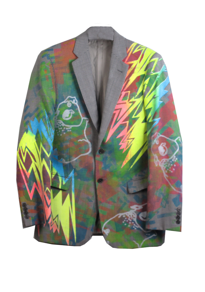 Ben Copperwheat 'LIGHTNING PIGS' One of A Kind Blazer - IMMEDIATE DELIVERY SIZE 40