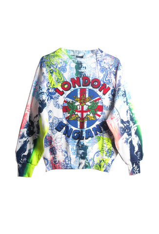 Ben Copperwheat One of A Kind 'LONDON ENGLAND' Sweatshirt- AVAILABLE FOR IMMEDIATE DELIVERY SIZE M