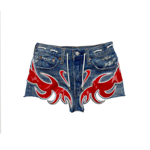 Cut-Out Appliqué Shorts