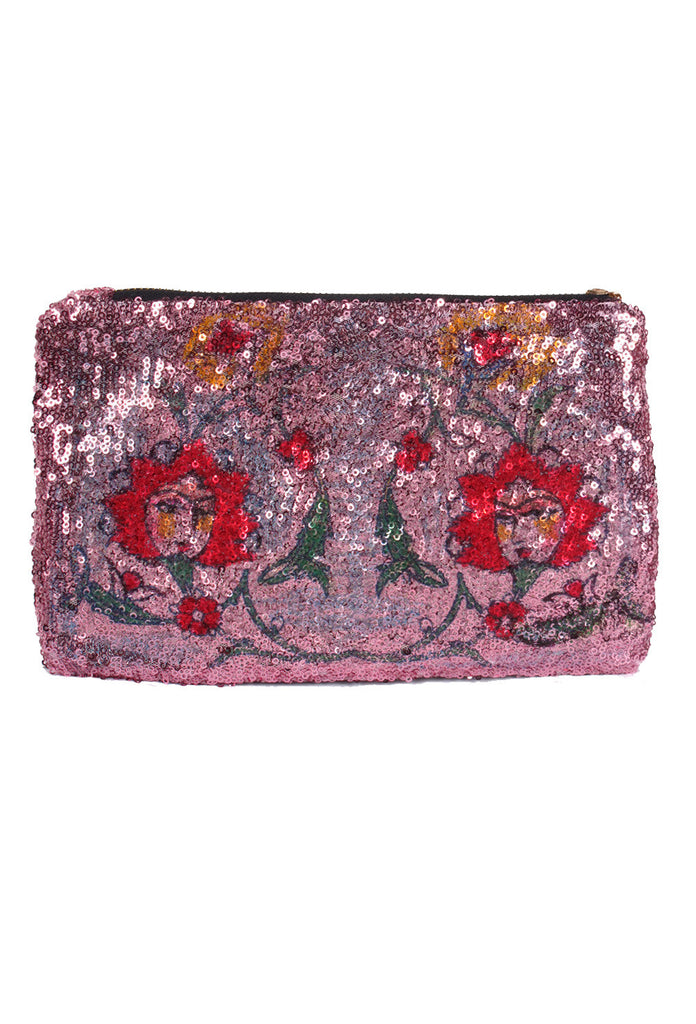 'HUSHI Mortezaie' Hand Painted 'LOVE IS LOVE' Clutch - AVAILABLE FOR  IMMEDIATE DELIVERY