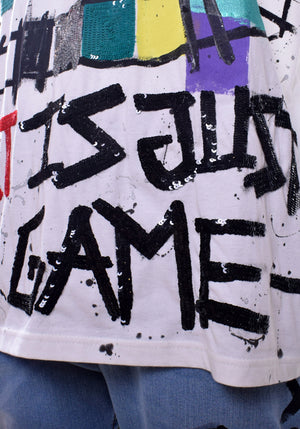 Unisex 'Art Is Just A Game' Sequin Tee