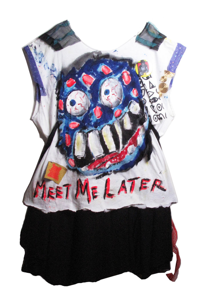 Scooter LaForge 'MEET ME LATER' Tee with Skirt Tail - IMMEDIATE DELIVERY SIZE L