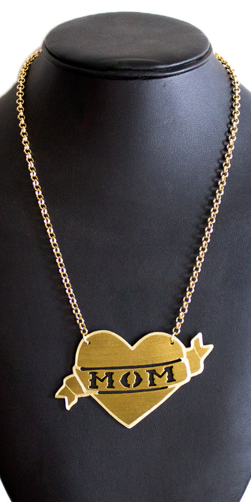 """Mom"" Tattoo Necklace"