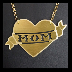 Mom ❤️ Tattoo Necklace