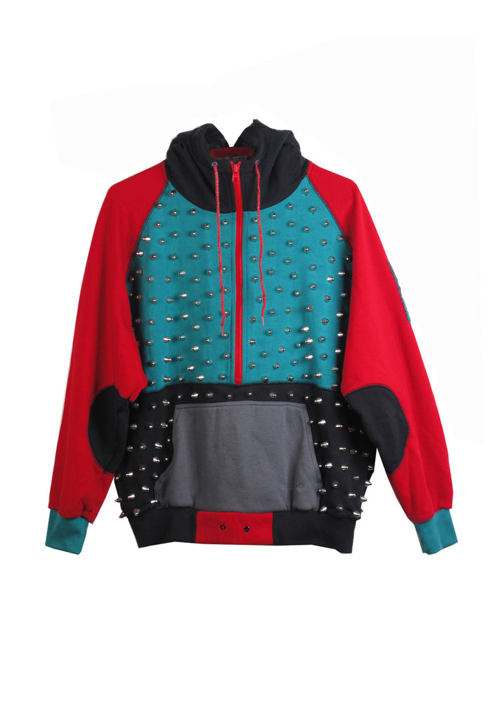 STUDMUFFIN One of A Kind 'Adidas Original' Studded Sweatsuit- AVAILABLE FOR IMMEDIATE DELIVERY SIZE L