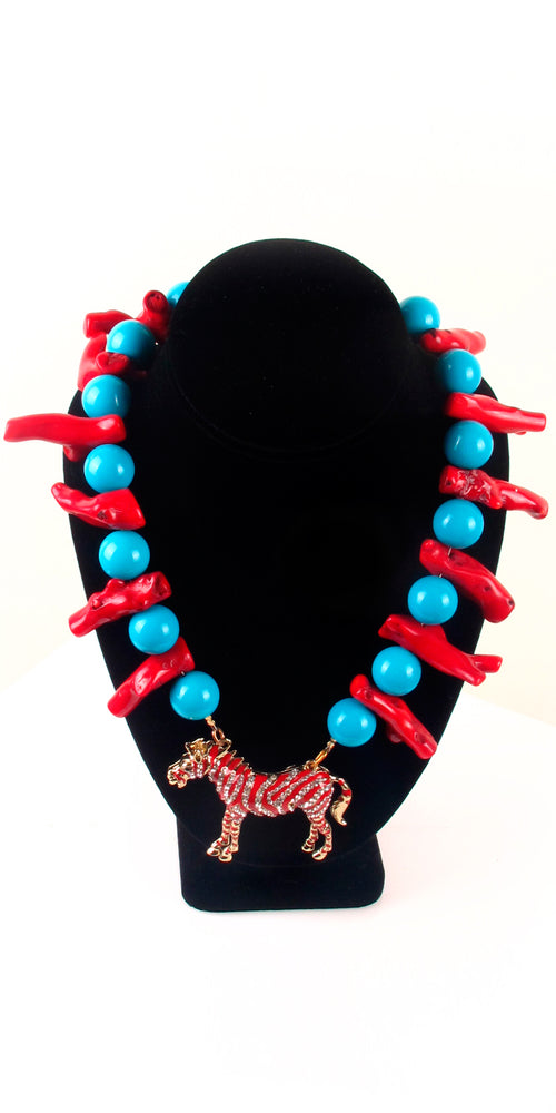 Red Coral Pendant Necklace