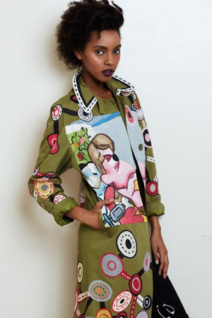 SUZAN PITT 'PAINTER' Coat