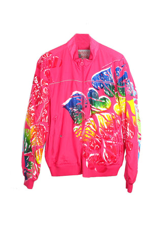 Ben Copperwheat One of A Kind 'HEARTS' Windbreaker Jacket- AVAILABLE FOR IMMEDIATE DELIVERY SIZE XL