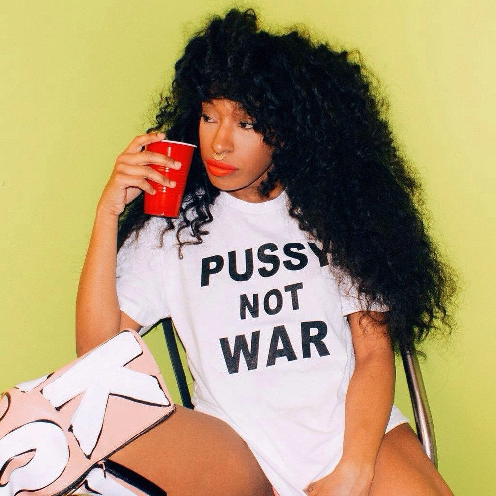 Iris Bonner THESEPINKLIPS Pussy Not War Tee - AVAILABLE FOR IMMIDIATE DELIVERY ALL SIZES