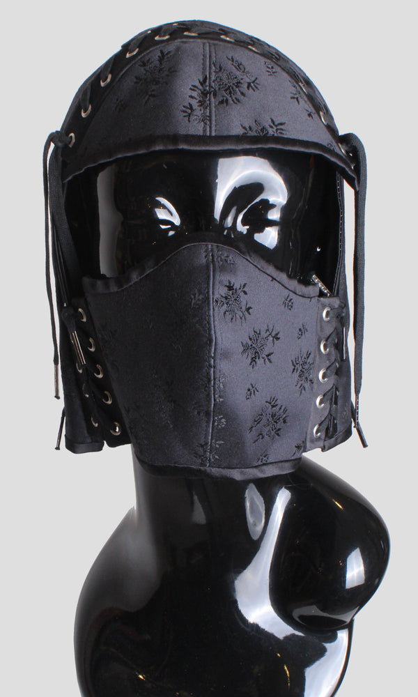 Corseted Couture Helmet - Black