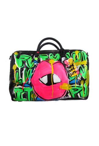 Iris Bonner THESEPINKLIPS Put Your Lips On It Speedy Satchel Bag