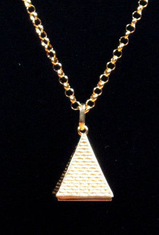 Patricia Field Signature Collection Gold Plated Pyramid Pendant signed by Patricia Field