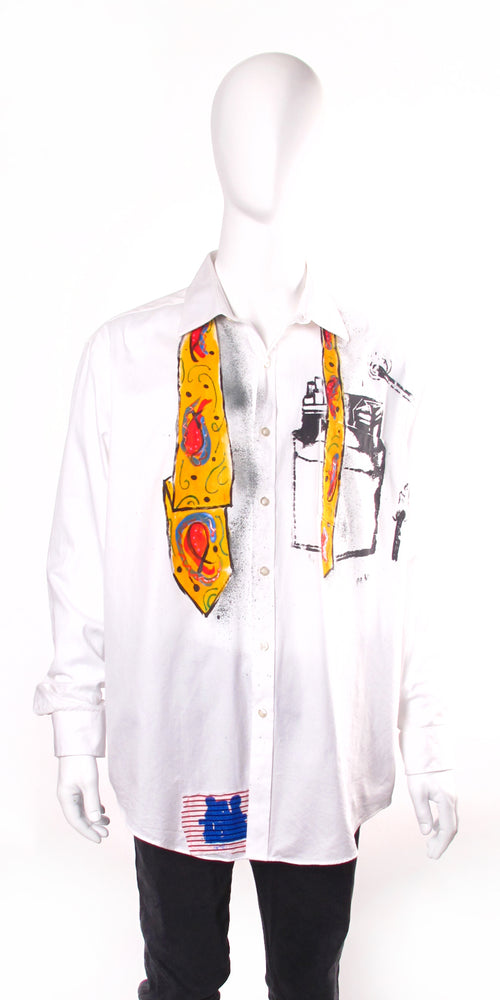 Festive Balloon Tie Button Up Shirt