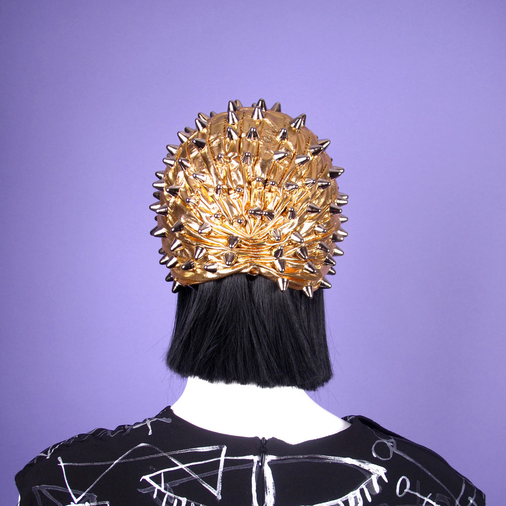 Silver Studded Gold Turban