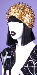 Silver Spiked Gold Turban