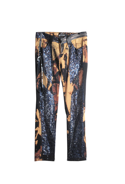 ONE OF A KIND Sequin Bleached Jeans- AVAILABLE FOR IMMEDIATE DELIVERY SIZE 30