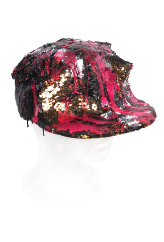 SSIK ONE OF A KIND 'SEQUIN' Silicon Drip Baseball Cap - AVAILABLE FOR  IMMEDIATE DELIVERY