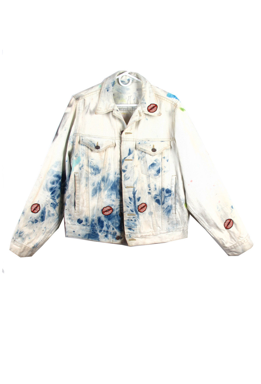 Scooter LaForge One of a Kind 'Sequin MARILN MONROE' Denim Jacket- IMMEDIATE DELIVERY SIZE L/ XL