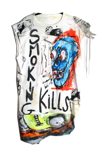 Scooter Laforge 'Skull Smoking Kills' Tee