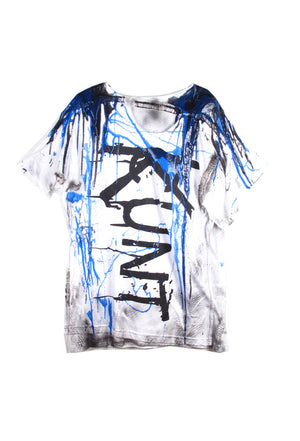 SSIK ONE OF A KIND Silicon Drip Graffiti Double Tee- AVAILABLE FOR  IMMEDIATE DELIVERY SIZE L