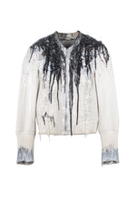 Silicon Drip Plexi-Mosaic Leather Jacket