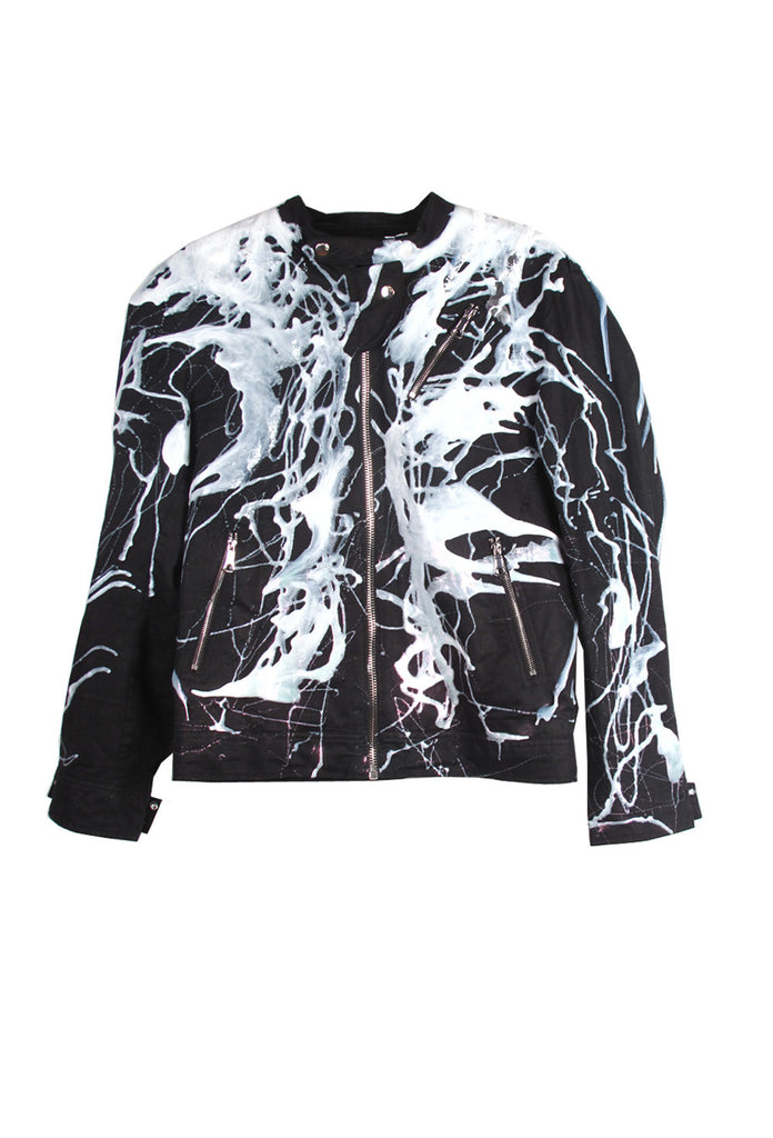 SSIK ONE OF A KIND Silicon Drip Zip Jacket- AVAILABLE FOR  IMMEDIATE DELIVERY MEN'S SIZE M