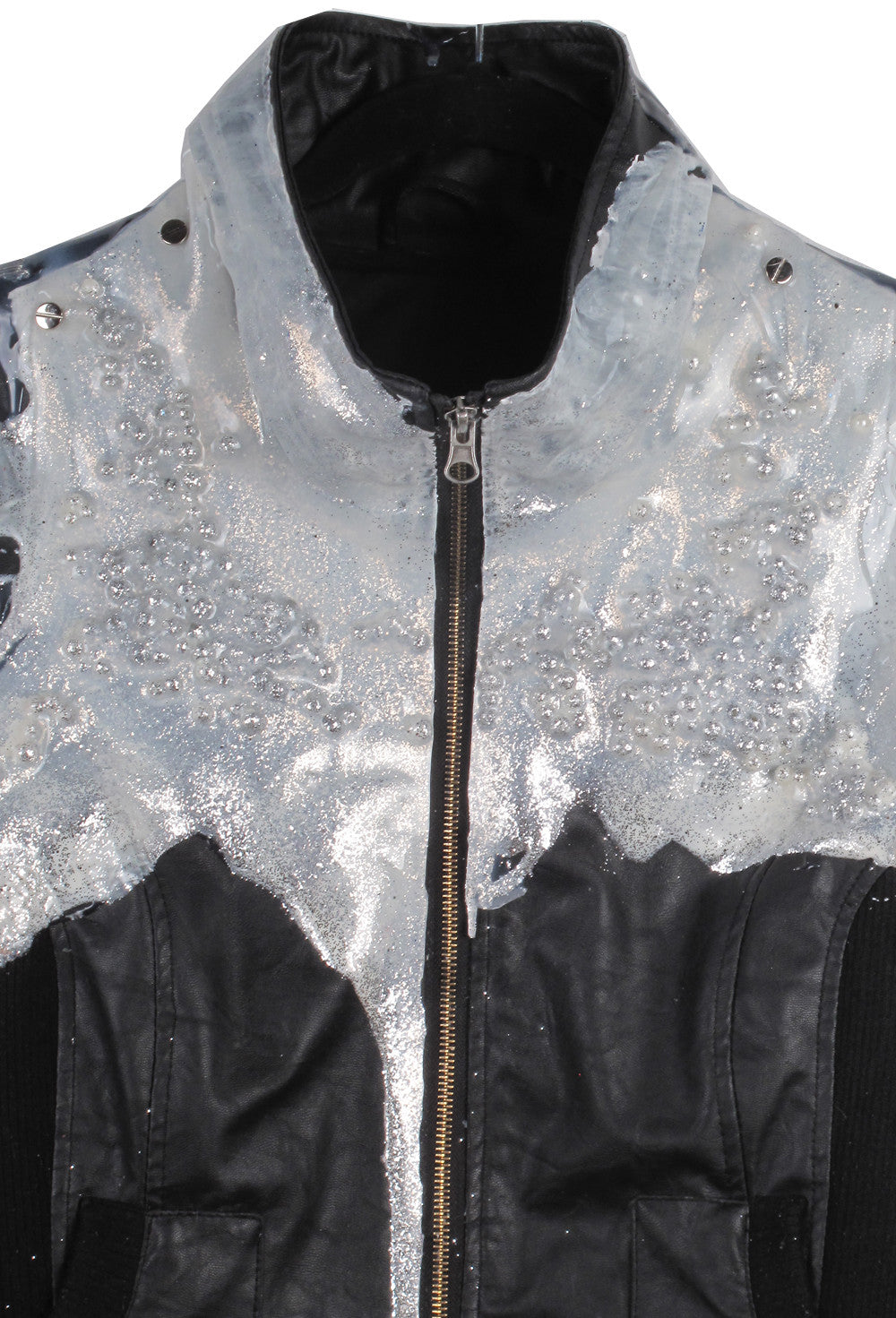 SSIK ONE OF A KIND Silicon Sparkle Pearl Drip Jacket - AVAILABLE FOR  IMMEDIATE DELIVERY SIZE S/M