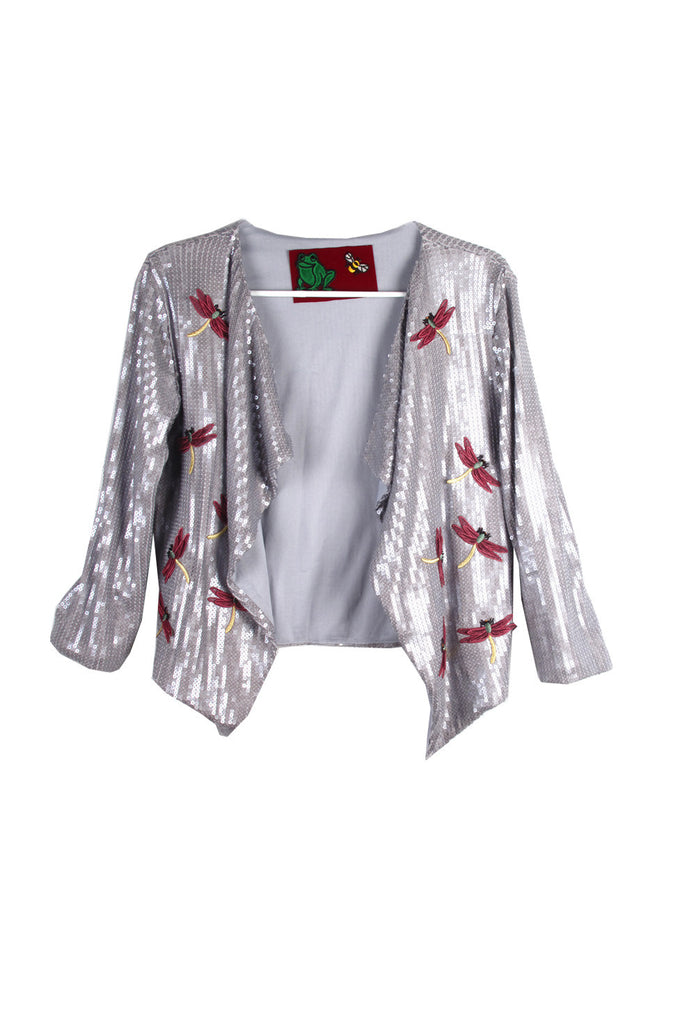 Suzanne Mallouk ONE OF A KIND Silver Sequin Jacket - AVAILABLE FOR  IMMEDIATE DELIVERY SIZE M/L