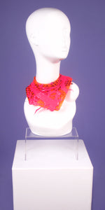 DayGlow Pink/Orange Netted Mini Neck Collar