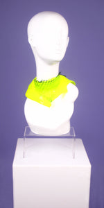 DayGlow Yellow Netted Mini Neck Collar