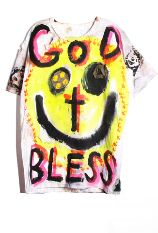 Scooter LaForge 'GOD BLESS' Tee - IMMEDIATE DELIVERY SIZE L