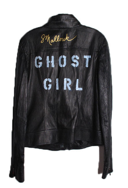 Suzanne Mallouk  'GHOST GIRL' Genuine Leather Jacket