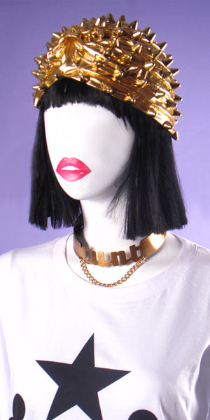 Gilded Gold Spiked Turban