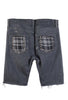 STUDmuffinNYC Punk Patchwork Grey Denim Shorts - AVAILABLE FOR IMMEDIATE DELIVERY SIZE 30