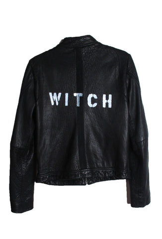 Suzanne Mallouk  'WITCH' Genuine Leather Jacket - IMMEDIATE DELIVERY SIZE M