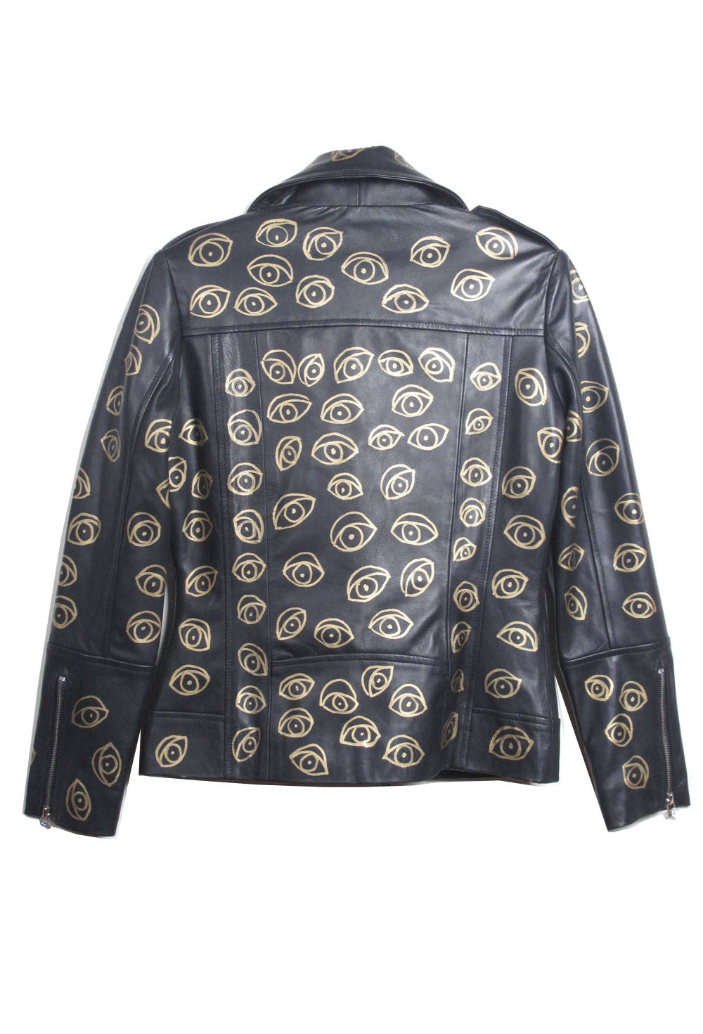 Suzanne Mallouk  'EYE SEE YOU' MC Genuine Leather Jacket - IMMEDIATE DELIVERY SIZE M