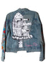 SUZAN PITT Embroidered Denim Jacket - IMMEDIATE DELIVERY SIZE XS