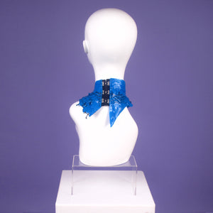 DayGlow Blue Netted Mini Neck Collar