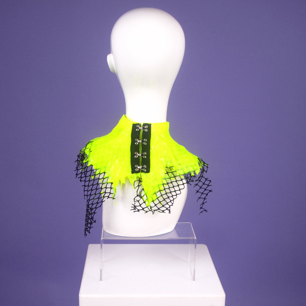 DayGlow Yellow Netted Neck Collar