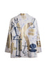 Jody MORLOCK Hand Painted 'Stinger' Leather Coat - IMMEDIATE DELIVERY SIZE S