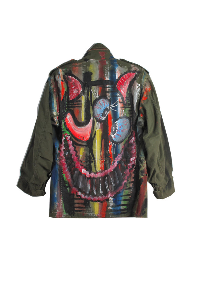 Scooter LaForge 'STRIPED HAPPY FACE' ARMY PARKA